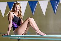NWA Democrat-Gazette/JASON IVESTER<br /> Fayetteville's Lindsey Rissinger, diver of the year; photographed on Tuesday, March 7, 2017, at the Bentonville Community Center