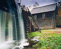 Mingus Grist Mill, Great Smoky Mountains National Park, Southern Appalachians, North Carolina