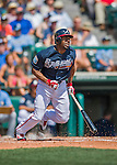 14 March 2016: Atlanta Braves outfielder Michael Bourn in action during a Spring Training pre-season game against the Tampa Bay Rays at Champion Stadium in the ESPN Wide World of Sports Complex in Kissimmee, Florida. The Braves shut out the Rays 5-0 in Grapefruit League play. Mandatory Credit: Ed Wolfstein Photo *** RAW (NEF) Image File Available ***