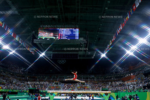 Asuka Teramoto (JPN), <br /> AUGUST 9, 2016 - Artistic Gymnastics : <br /> Women's Final <br /> Balance Beam  <br /> at Rio Olympic Arena <br /> during the Rio 2016 Olympic Games in Rio de Janeiro, Brazil. <br /> (Photo by Sho Tamura/AFLO SPORT)