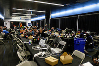 Toronto, ON, Canada - Saturday Dec. 10, 2016: Photographer work room prior to the MLS Cup finals at BMO Field. The Seattle Sounders FC defeated Toronto FC on penalty kicks after playing a scoreless game.