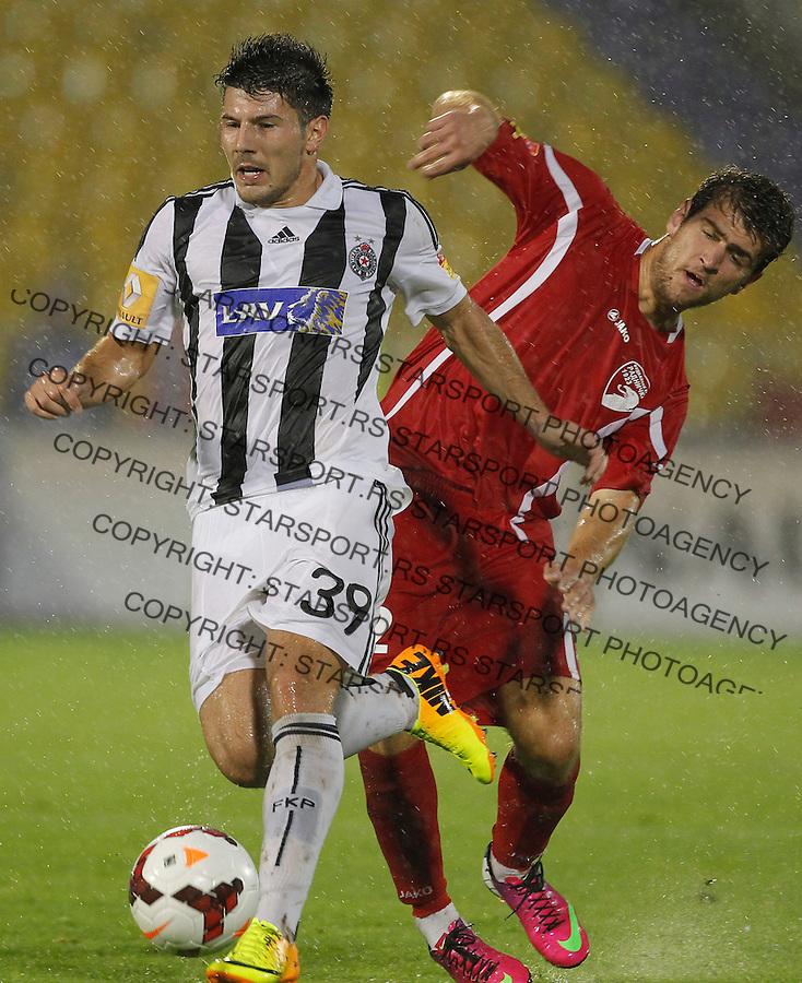 Fudbal Super liga season 2013-2014<br /> Partizan v Radnicki Kragujevac<br /> Milos Jojic and Ivan Petrovic<br /> Beograd, 25.08.2013.<br /> foto: Srdjan Stevanovic/Starsportphoto &copy;