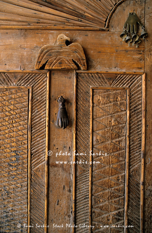 Traditional egyptian carved wooden door sharm el sheikh