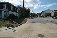 1992 October 07..Conservation.Cottage Line..PROGRESS.BEFORE.STREET IMPROVEMENT.WARWICK LOOKING SOUTH.FROM EAST OCEAN VIEW AVENUE...NEG#.NRHA#..