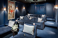 Comfy theater seats make this the go-to space for this home owner.