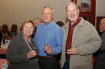 Naugatuck, CT-0218MK12 (from left) Diane and Jim Devine with Bruce Monahan gathered Saturday night during Savor CT, a tasting, hosted by the Naugatuck Historical Society at the Portuguese Club.  Wendy Murphy, chairperson for the gathering, said that this was the sixth year in a row the event featuring beer, wine, soda and foods made in Connecticut.  Attendees explored the flavors from around the state and were able to sample everything from huge brand names like Newman's Own to more local options like Fascia's Chocolates. The annual occasion showcased the best Connecticut food and beverages has to offer. Murphy stated that she expected over 200 people to participate and the proceeds will benefit future historical exhibits the the Tuttle House. Michael Kabelka / Republican-American