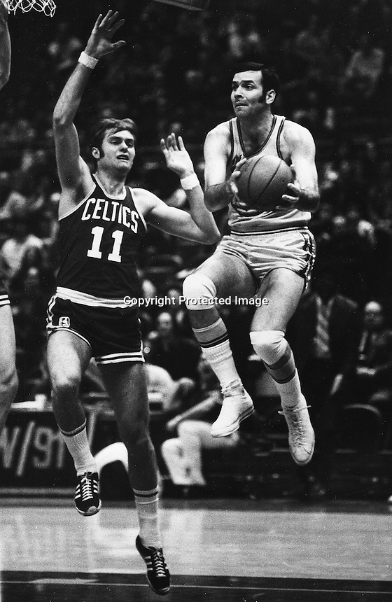 Golden State Warrior Jerry Lucas with Boston Celtics <br />