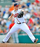6 March 2012: Atlanta Braves pitcher Craig Kimbrel in action during a Spring Training game against the Washington Nationals at Champion Park in Disney's Wide World of Sports Complex, Orlando, Florida. The Nationals defeated the Braves 5-2 in Grapefruit League action. Mandatory Credit: Ed Wolfstein Photo