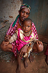 Mother and child in the central highlands of Madagascar.