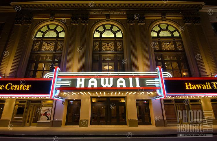 The historic Hawaii Theater, downtown Honolulu