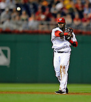 11 July 2008: Washington Nationals' shortstop Cristian Guzman in action against the Houston Astros at Nationals Park in Washington, DC. The Nationals shut out the Astros 10-0 in the first game of their 3-game series...Mandatory Photo Credit: Ed Wolfstein Photo