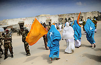 Mogadishu/Somalia 2012 - Supporters of President Sheikh Sharif, celebrate his return after attending talks in Nairobi (Kenya).