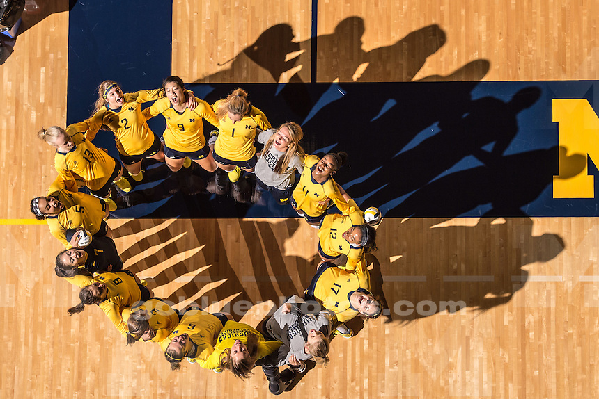 The University of Michigan volleyball team defeats Youngstown State University, 3-0, during the Wolverine Invitational at Crisler Arena in Ann Arbor, Mich. on Friday, September 19, 2014.
