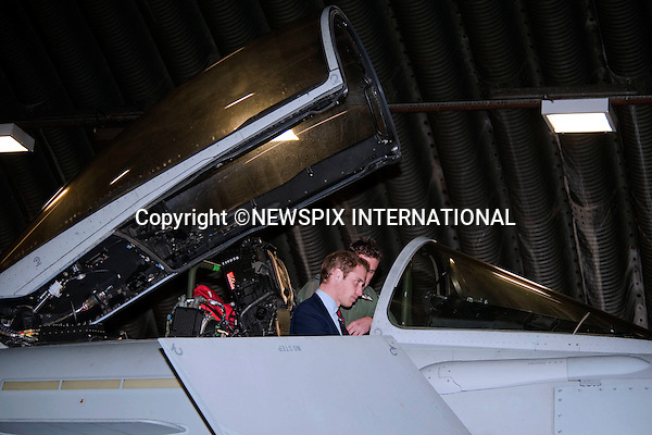 """PRINCE WILLIAM.Honorary Air Commandant, Royal Air Force Coningsby visited the air station and meet RAF personnel, the families, and support staff. .He also visited the Typhoon Maintenance Facility and viewed a Typhoon jet, RAF Coningsby, Lincoln_11/01/2010.Mandatory Credit Photo: ©DIAS-NEWSPIX INTERNATIONAL..**ALL FEES PAYABLE TO: """"NEWSPIX INTERNATIONAL""""**..IMMEDIATE CONFIRMATION OF USAGE REQUIRED:.Newspix International, 31 Chinnery Hill, Bishop's Stortford, ENGLAND CM23 3PS.Tel:+441279 324672  ; Fax: +441279656877.Mobile:  07775681153.e-mail: info@newspixinternational.co.uk"""
