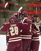 - The visiting Boston College Eagles defeated the Harvard University Crimson 5-1 on Wednesday, November 20, 2013, at Bright-Landry Hockey Center in Cambridge, Massachusetts.