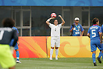 06 August 2008: Ria Percival (NZL).  The women's Olympic team of New Zealand tied the women's Olympic soccer team of Japan 2-2 at Qinhuangdao Olympic Center Stadium in Qinhuangdao, China in a Group G round-robin match in the Women's Olympic Football competition.