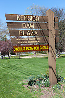 A sign for Kensico Dam Plaza County Park located in Valhalla, Westchester County, New York