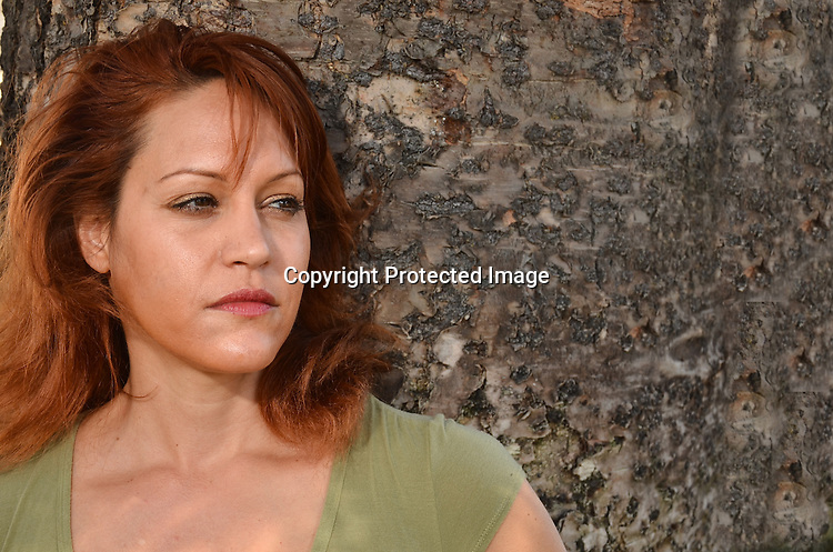 Stock p[photo of a portrait of a beautiful redhead woman