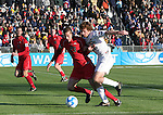 16 December 2007: Ohio State's Eric Brunner (23) defends Wake Forest's Cody Arnoux (17). The Wake Forest University Demon Deacons defeated the Ohio State Buckeyes 2-1 at SAS Stadium in Cary, North Carolina in the NCAA Division I Mens College Cup championship game.