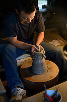 Seiichi Otsuka, staff of the Daiseigama Kiln, Mashiko, Japan, May 11, 2013. Mashiko is one of Japan's leading pottery towns, famous for its association with master potter Shoji Hamada.