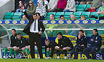Hibs v St Johnstone.....30.04.11.Thumbs up from Colin Calderwood.Picture by Graeme Hart..Copyright Perthshire Picture Agency.Tel: 01738 623350  Mobile: 07990 594431