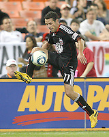 Carlos Verela of D.C. United during an MLS match against the San Jose Earthquakes at RFK Stadium in Washington D.C. on October 9 2010. San Jose won 2-0.