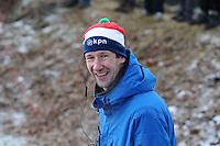 SCHAATSEN: NOORDLAREN: 18-01-2017, IJsvereniging De Hondsrug, de eerste marathon op natuurijs van 2017, Willem Hut (KNSB competitieleider Marathon), ©foto Martin de Jong