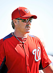 19 February 2011: Washington Nationals' Spring Instructor Rick Schu watches drills during Spring Training at the Carl Barger Baseball Complex in Viera, Florida. Mandatory Credit: Ed Wolfstein Photo