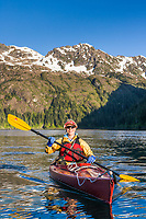 Sea kayaking, Copper Bay, Knight Island, Prince William Sound, AlaskaSea kayaking, Copper Bay, Knight Island, Prince William Sound, Alaska