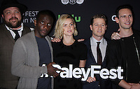 NEW YORK, NY-October 19: Drew Powell, Chris Chalk, Erin Richards, Ben McKenzie, Cory Michael Smith, at PaleyFest New York presents Gotham at the Paley Center for Media in New York.October 19, 2016. Credit:RW/MediaPunch