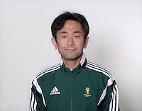 FUSSBALL Fototermin FIFA WM Schiedsrichterassistenten 09.04.2014 Toshiyuki NAGI (Japan)