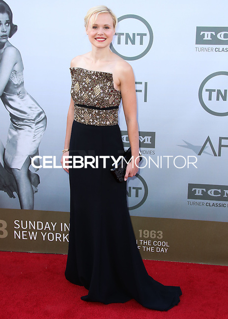 HOLLYWOOD, LOS ANGELES, CA, USA - JUNE 05: Alison Pill at the 42nd AFI Life Achievement Award Honoring Jane Fonda held at the Dolby Theatre on June 5, 2014 in Hollywood, Los Angeles, California, United States. (Photo by Xavier Collin/Celebrity Monitor)