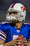 8 October 2007: Buffalo Bills quarterback Trent Edwards warms up prior to a game against the Dallas Cowboys at Ralph Wilson Stadium in Buffalo, New York. The Cowboys defeated the Bills 25-24 for their fifth consecutive win of the season...Mandatory Photo Credit: Ed Wolfstein Photo