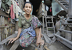 A woman in the Chamroen neighborhood of Phnom Penh, Cambodia.