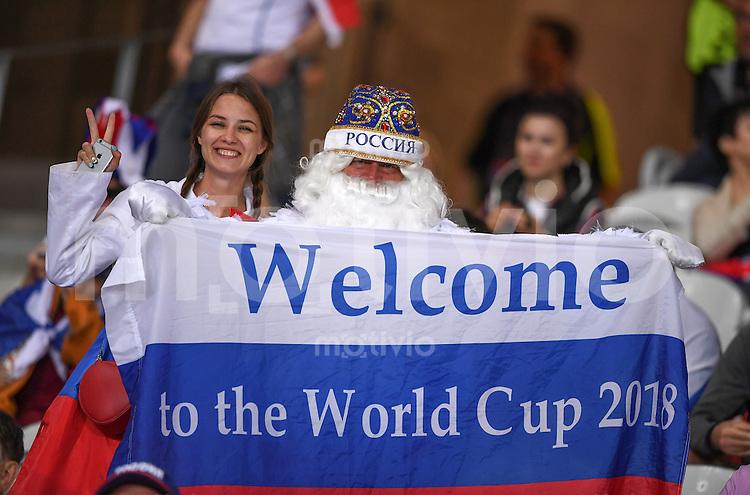 FUSSBALL EURO 2016 GRUPPE B IN LILLE Russland - Slowakei     15.06.2016 Russische Fans begruessen die Welt fuer die WM 2018 in ihrem eigenen Land