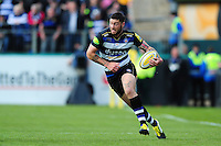 Matt Banahan of Bath Rugby goes on the attack. Aviva Premiership match, between Bath Rugby and Sale Sharks on April 23, 2016 at the Recreation Ground in Bath, England. Photo by: Patrick Khachfe / Onside Images