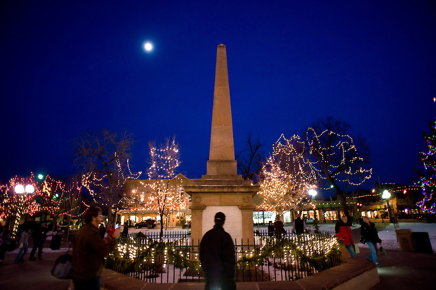 On the 400-year-old plaza, Santa Fe, N.M. (Kevin Moloney for the New York Times)