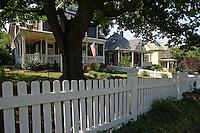A neighborhood in Charlottesville, VA.