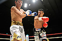 (L-R) Jorge Solis (MEX), Takashi Uchiyama (JPN), DECEMBER 31, 2011 - Boxing : Takashi Uchiyama of Japan in action against Jorge Solis of Mexico during the WBA super featherweight title bout at Yokohama Cultural Gymnasium in Kanagawa, Japan. (Photo by Hiroaki Yamaguchi/AFLO)