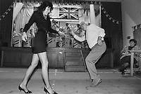 Dance at Wilburton social club in Cambridgeshire.