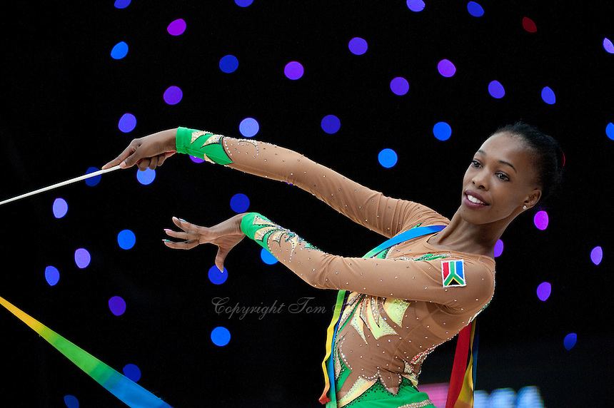 "February 14, 2016 - Tartu, Estonia - GRACE LEGOTE of South Africa performs in Event Finals at ""Miss Valentine"" 2016 international tournament."
