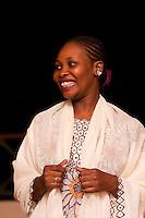 Zanzibar, Tanzania.  Taarab Musicians.  Culture Musical Club. Female Singer, Vocalist.