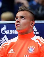 FUSSBALL   1. BUNDESLIGA  SAISON 2012/2013   4. Spieltag FC Schalke 04 - FC Bayern Muenchen      22.09.2012 Xherdan Shaqiri  (FC Bayern Muenchen) auf der Ersatzbank