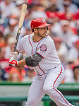 27 May 2013: Washington Nationals starting pitcher Gio Gonzalez stands at bat against the Baltimore Orioles at Nationals Park in Washington, DC. The Orioles defeated the Nationals 6-2, taking the Memorial Day, first game of their interleague series. Mandatory Credit: Ed Wolfstein Photo *** RAW (NEF) Image File Available ***