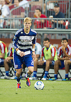 FC Dallas defender/midfielder Brek Shea #20 in action during an MLS game between the FC Dallas and the Toronto FC at BMO Field in Toronto on July 20, 2011..FC Dallas won 1-0.