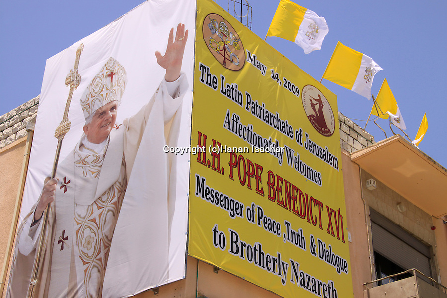 Israel, Galilee,His Holiness Pope Benedict XVI visit to Nazareth