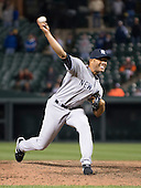New York Yankees pitcher Mariano Rivera (42) pitches in the twelfth inning against the Baltimore Orioles at Oriole Park at Camden Yards in Baltimore, MD on Tuesday, April 10, 2012.  The Yankees won the game in 12 innings 5 - 4..Credit: Ron Sachs / CNP.(RESTRICTION: NO New York or New Jersey Newspapers or newspapers within a 75 mile radius of New York City)