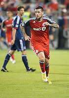 12 September 2012: Toronto FC forward Eric Hassli #29 in action during an MLS game between the Chicago Fire and Toronto FC at BMO Field in Toronto, Ontario..The Chicago Fire won 2-1..