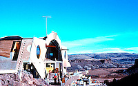 Paolo Soleri: ARCOSANTI. Foundry from main building. Photo '77.
