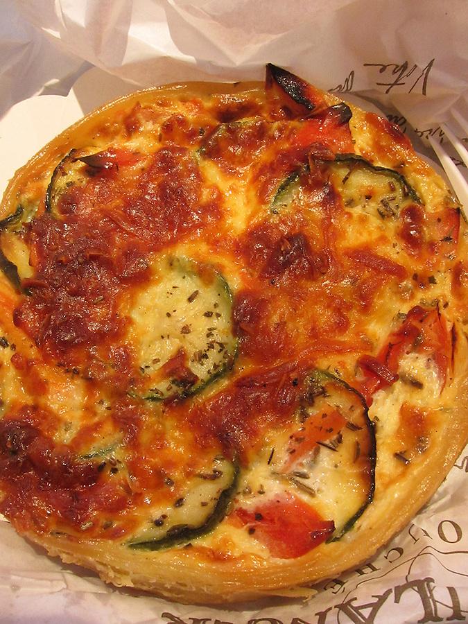 Vegetable quiche, Paris, France